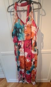 PRETTY SUMMER PRINT MAXI DRESS